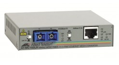Медиаконвертер Allied Telesis 100TX (RJ-45) to 100FX (SC) single-mode fiber (40k..