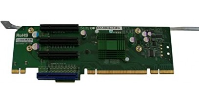 Карта расширения Supermicro RSC-R2UU-UA3E8 Riser Card 2U, (UIO, 3 PCI-E x8), Left Slot, for SC825U