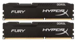 16GB Kingston DDR3L 1866 DIMM HyperX FURY Black HX318LC11FBK2/16 Non-ECC, CL11, ..