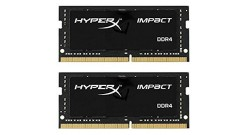 16GB Kingston DDR4 2400 SO DIMM HyperX Impact Black HX424S14IB2K2/16 Non-ECC, CL..