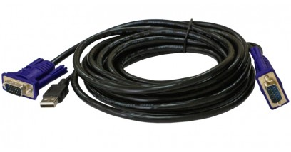 2 in 1 USB KVM Cable in 3m (10ft)