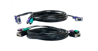Cable Kit for DKVM Products, PS/2 keyboard cable, PS/2 mouse cable, Monitor cable, 3m length