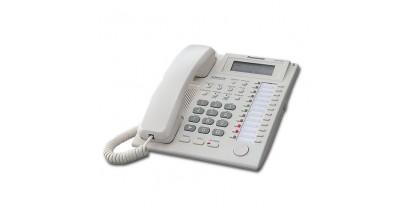 Системный телефон Panasonic KX -T7735RUW (24 прогр.кнопок, для АТС TES/TEM/TDA) белого цвета