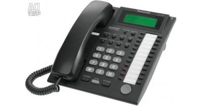 Системный телефон Panasonic KX-T7735RU-B (аналог. сист. телефон, 24 прогр. кнопок, черный)