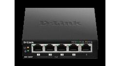 Коммутатор D-Link DES-1005P с 5 портами 10/100 Мбит/с (1 порт PoE)..