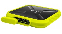 Накопитель SSD A-Data 256GB SD700 External SSD ASD700-256GU3-CYL USB 3.1 Gen 1, 440/440, IOPS 32/19K, MTBF 2M, 3D V-NAND TLC, 256MB, 200TBW, IP68, Yellow, Retail