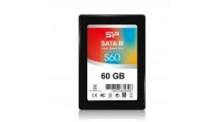 "Накопитель SSD Silicon 2.5"""" 60GB Power Slim S60 Client SSD SP060GBSS3S60S25 SATA 6Gb/s, 450/80, IOPS 85K, MTBF 1.5M, MLC, Retail"