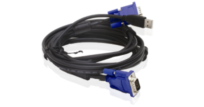 2 in 1 USB KVM Cable in 5m (15ft)