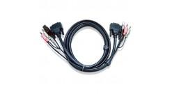 3.0 м. кабель/шнур, Монитор (DVI-D Single Link) +USB (Клавиатура+Мышь) +Звук (ли..