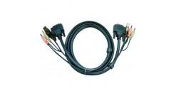 5.0 м. кабель/шнур, Монитор (DVI-D Single Link) +USB (Клавиатура+Мышь) +Звук (ли..