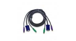 5.0 м. удлинитель кабеля/шнура для PS/2 КВМ (1х HDB-15 Male + 2х Mini-DIN Male; ..