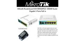 Маршрутизатор 10/100/1000M 5PORT HEX POE RB960PGS MIKROTIK Тип устройства Router..