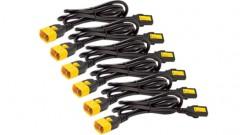 APC AP8704S-WW Кабель электропитания, 10A, 100-230V, IEC 320 C13 - IEC 320 C14, прямая вилка, с защелкой для предотвращения отсоединения (комплект 6 сетевых шнуров), 1.22 м