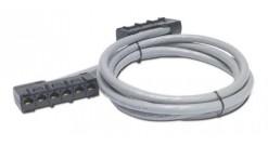 APC Data Distribution Cable, CAT5e UTP CMR Gray, 6xRJ-45 Jack to 6xRJ-45 Jack, 1..