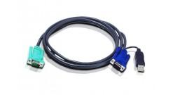 ATEN  Кабель для KVM переключателей (VGA15M+USB->SPHD-15/18M, 1.8м)..