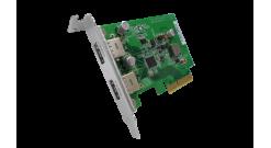 Адаптер Qnap USB-U31A2P01 USB 3.1 Gen 2 10Gbps Type-A Dual-port PCIe Card (w/o U..