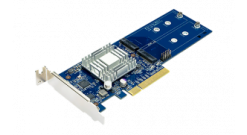 Адаптер Synology M2D18 M.2 SSD-Sata adapter, LP PCIe 2.0x8 (for DS1517+, DS1817+..