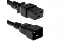Cabinet Jumper Power Cord, 250 VAC 16A, C20-C19 Connectors