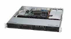 "Корпус Supermicro CSE-813MFTQC-R407CB - 1U, 2x400W, 4x3.5"""" HDD Hot-swap SAS/SATA, 437*43*503мм"