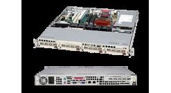 "Корпус Supermicro CSE-813MTQ-280C - 1U, 280W, 4x3.5"""" HDD Hot-swap SAS/SATA, 437*43*503mm, RMKit"