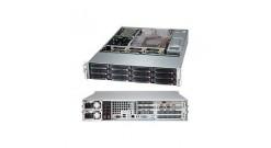 "Корпус Supermicro CSE-826BE16-R1K28WB - 2U, 2x1280W, 12x3.5"""" HDD, Single SAS2 (6Gbps) expanders, WIO"