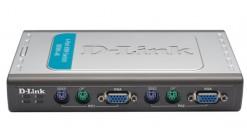 Переключатель KVM D-Link DKVM-4K 4xPC port (DKVM-4K/B1A) D-Link DKVM-4K, 4-port KVM switch, PS/2, KVM Cable x 2