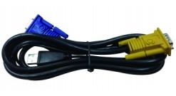 D-Link DKVM-IPVUCB, 2 in 1 USB + D-SUB KVM Cable for DKVM-IP8/T1 device, 1.8m