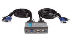 ПЕРЕКЛЮЧАТЕЛЬ D-Link KVM-221, 2 port USB KVM Switch with built in cables, Audio Support