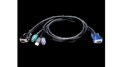 D-Link KVM-401, KVM 4-in-1 cable, 1.8m..