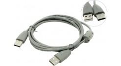 Кабель Belsis USB2.0 А вилка-USB А вилка с ф/фильтром, 1.8 м. (распродажа)..