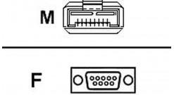 Кабель FC Adaptec ACK-CU-HSSDC-DB9-2G-3M is a 2GB Fibre Channel copper cable, HS..