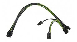 Кабель Supermicro CBL-PWEX-0582 - 8 pin to two 6+2 pin 12V GPU power cable, 30 cm 16/20 AWG