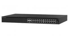 Коммутатор Dell N1124T-ON L2, 24 ports RJ45 1GbE, 4 ports SFP+ 10GbE, Stacking 3..