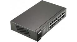 Коммутатор Zyxel GS1100-16 GS1100-16-EU0101F неуправляемый настольный/19U 16x10/..