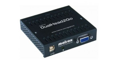Коммутатор видеосигнала Matrox D2G-A2A-IF, DualHead2Go, enables you to attach two displays to your computer, RTL {10/20}