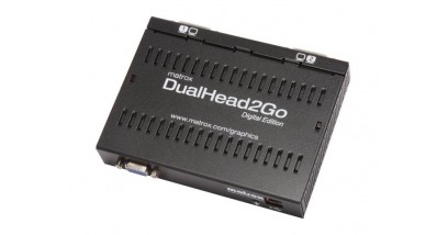 Коммутатор видеосигнала Matrox D2G-A2D-IF, DualHead2Go, Digital Edition enables you to attach two displays to your computer, RTL {10/20}