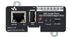 Контроллер HPE Q1C17A Single Phase 1Gb UPS with Network Management Module..