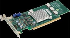 Контроллер Supermicro AOC-SLG3-4E4T-O - Quad-Port NVMe Internal Host Bus Adapter 12.8 Gb/s LP
