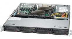 "Корпус Supermicro CSE-813MFTQC-350CB2 1U, 350W, 4x3.5"""" HDD Hot-swap SAS/SATA, 437*43*503mm, RMKit"