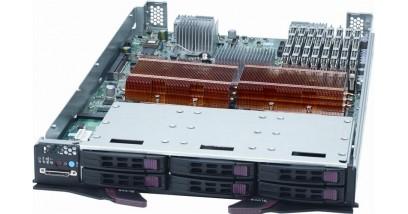 "Блейд сервер Supermicro SBi-7125W-S6 Blade Module [(1600/1333 FSB, 64GB FBD, 6x 2.5"""" SAS/SATA, 4x DDR (20Gb/s) IB"