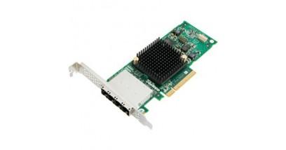 Контроллер Adaptec ASA-70165H (PCI-E v3 x8, LP) SGL SAS 6G, 16port(ext 4*SFF8644), Каб.отдельно