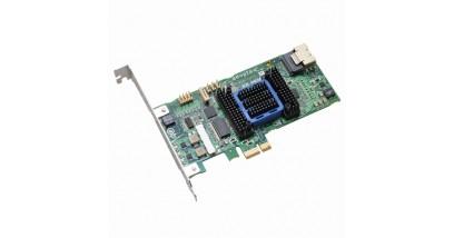 Контроллер Adaptec ASR-6405E (PCI-E v2 x1, LP) Kit SAS 6G, Raid 0,1,10,1E, 4port(intSFF8087), 128Mb onboard, Каб.1шт
