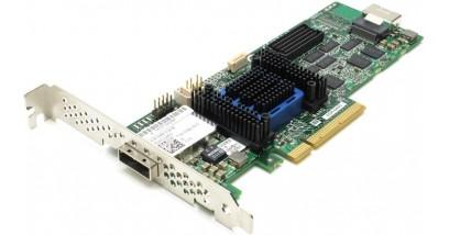 Контроллер Adaptec ASR-6445 (PCI-E v2 x8, LP) SGL SAS 6G, Raid..., 8port(intSFF8087+extSSF8088), 512Mb, Каб.отдельно