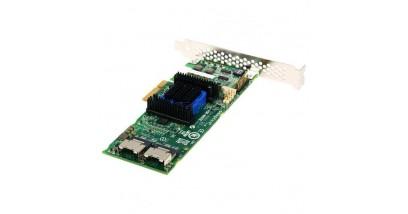 Контроллер Adaptec ASR-6805E (PCI-E v2 x4, LP) Kit SAS 6G, Raid 0,1,10,1E, 8port(int2*SFF8087), 128Mb onboard,Каб.(2шт#10432)