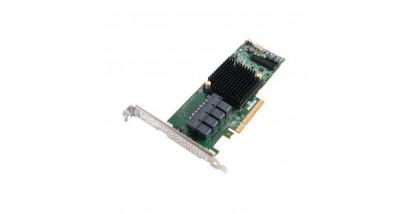 Контроллер Adaptec ASR-71605Q (PCI-E v3 x8, LP) SGL SAS 6G,Raid 0,1,10,5,6,50,16port(int4*SFF8643),1Gb,maxCache,AFM в компл,Каб.отд