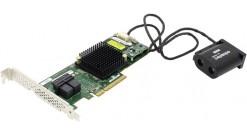 Контроллер Adaptec ASR-7805Q (PCI-E v3 x8, LP) SGL SAS 6G,Raid 0,1,10,5,6,50,8port(int2*SFF8643),1Gb,maxCache,AFM в компл,Каб.отд
