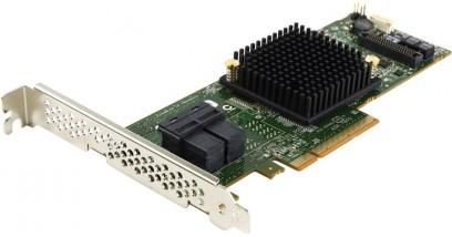 Контроллер Adaptec ASR-7805 (PCI-E v3 x8, LP) Kit SAS 6G, Raid 0,1,10,5,6.., 8port(int 4*SFF8643), 1Gb cache, Каб.в компл