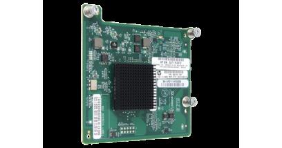 Контроллер HP QMH2572, Qlogic-based, Fibre Channel, Dual port, 8Gb, Adptr for BL cClass (BL460cG8)