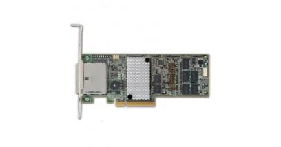 Контроллер LSI Logic SAS 9285CV-8E (PCI-E 2.0 x8, LP, EXTERNAL) SGL SAS6G, Raid 0,1,10,5,6, 8port (2*extSFF8088),1GB onboard,CacheVault,Каб.отдельно