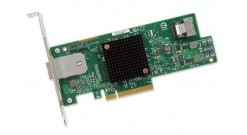 Контроллер LSI Logic SAS 9207-4I4E (PCI-E 3.0 x8, LP) SGL SAS6G, Raid 0,1,10, 8port (4*int SATA + 1*extSFF8088)